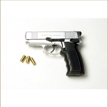 Sava Magnum Blank Firing Pistol Nickel Finish