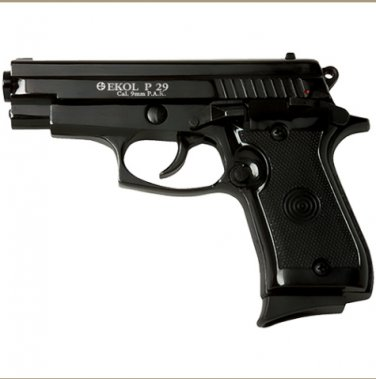P29 Rev2 Semi Automatic Blank Firing Pistol Matte BlackFinish