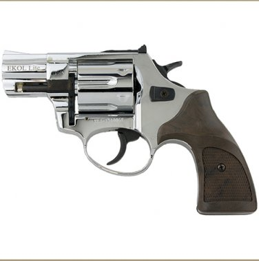 "Viper 1.5"" Barrel 9mm Blank Firing Revolver Nickel Finish"
