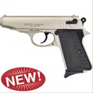 Majarov Semi Automatic Blank Firing Pistol Satin Finish