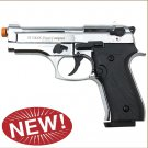 Firat Compact 92 Front Firing Blank Gun High Polish Nickel Finish