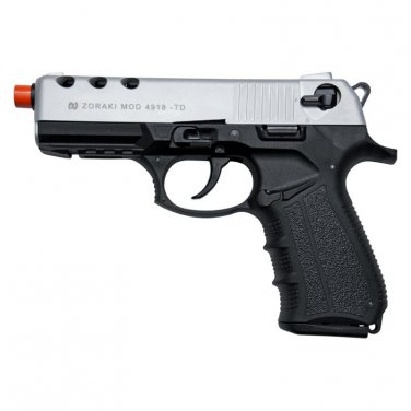 Zoraki 4918 Silver Finish Front Firing Blank Gun