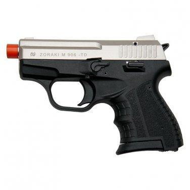 Zoraki M906 Satin Finish - 9MM Front Firing Blank Pistol Semi-Auto Gun