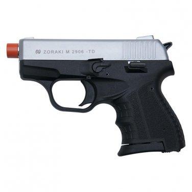 Zoraki M2906 Silver Finish 9mm Front Firing Blank Gun Semi Automatic Pistol