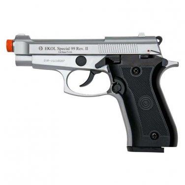 Special 99 REV2 Front Firing Blank Gun Nickel Finish Pistol