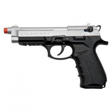 Stalker 918 Silver Finish - 9mm Blank Firing Replica Zoraki Gun