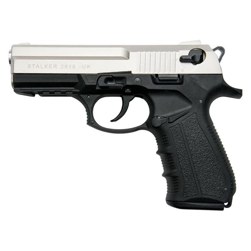 Stalker 2918 Satin Finish - 9mm Blank Firing Replica Zoraki Gun