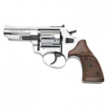Viper Chrome Finish 9mm Blank Firing Revolver 3 Inch Barrel