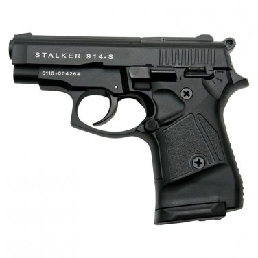 Stalker 914 Black Finish - 9mm Blank Firing Replica Zoraki Gun