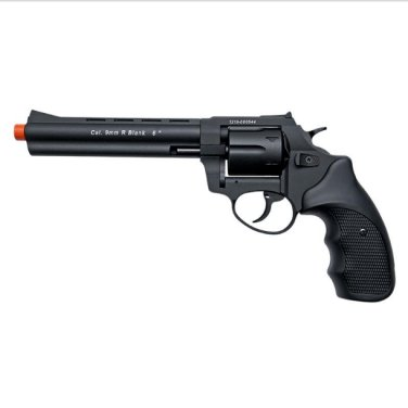 "Stalker R1 6"" Barrel Revolver Black - 9mm Zoraki Blank Firing Gun"