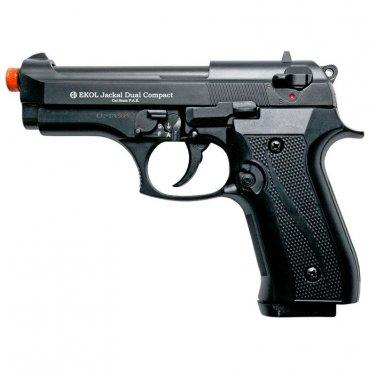 Jackal Compact Black Finish - Full Auto Machine Gun Front Firing Blank Pistol