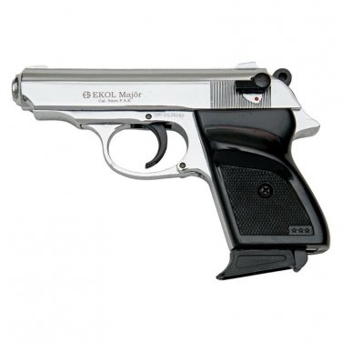 MVP Blank Firing Replica Gun - Chrome Finish