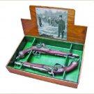 Colonial 1865 Italian Percussion Dueling Flintlock Set Non-Firing Replica