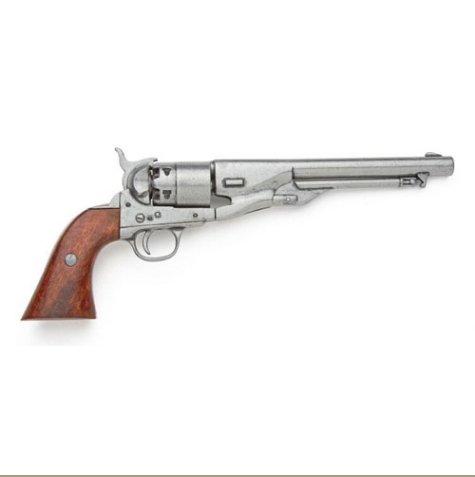 Civil War M1860 Antique Gray Finish Pistol - Non-Firing Replica