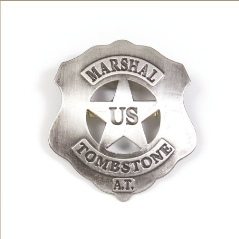 Old West Replica Tombstone U.S. Marshall's Badge
