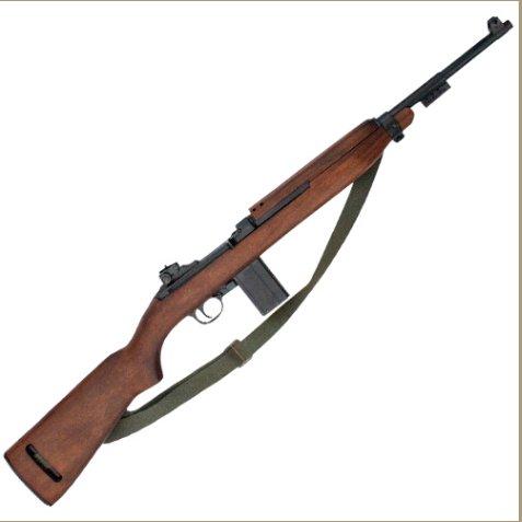 Replica WWII M1 Carbine Rifle With Sling Non-Firing Gun