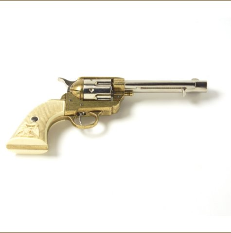 Old West M1873 Frontier Barrel Dual Tone Finish Replica Revolver Non-Firing Gun