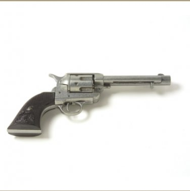 Old West M1873 Antique Grey Black Grip Replica Revolver Non-Firing Gun