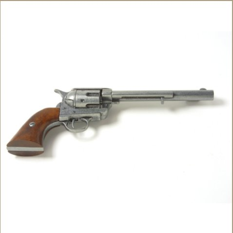 Old West Antique Grey Finish Replica Cavalry Barrel Revolver Non-Firing Gun