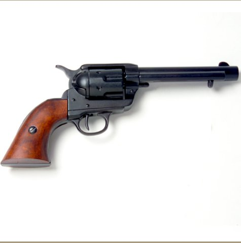 Old West Frontier Black Finish Replica Revolver Non-Firing Gun