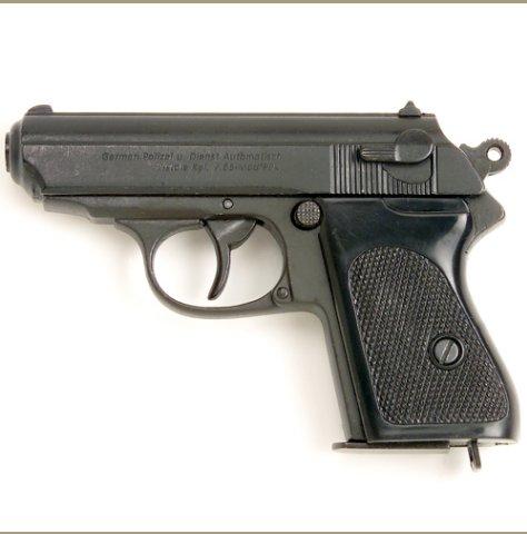 Replica Bond Black Finish Semi Automatic Pistol Non-Firing Gun