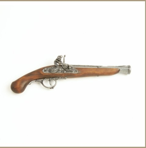 Replica Early 18TH Century Grey Trim German Flintlock Non-Firing Gun