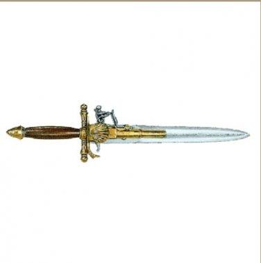 Replica Colonial 18TH Century French Dagger Pistol Non-Firing Gun