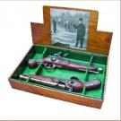 Colonial Replica British Dueling Flintlock Boxed Set Non-Firing Guns