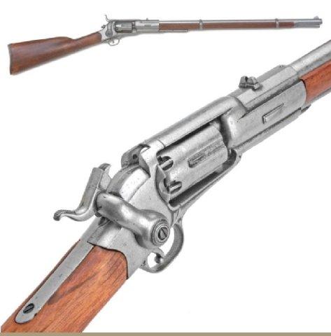 Old West Replica M1855 Revolving Percussion Rifle Non-Firing Gun