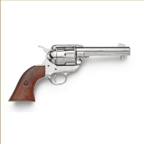 Old West Replica M1873 Nickel Finish Quick Draw Revolver Non-Firing Gun
