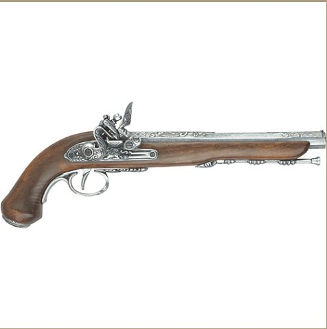 FRENCH DUELING PISTOL GREY