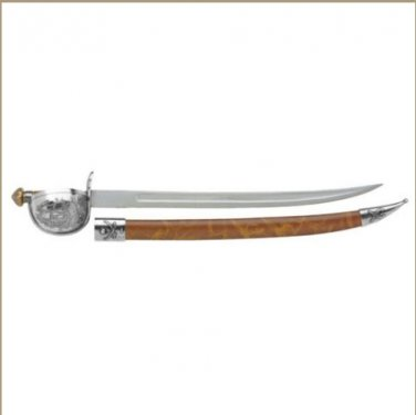 Replica Silver Trim Pirate Cutlass And Scabbard