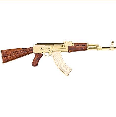 Replica Russian Assault Rifle Non-Firing Gun Gold Finish