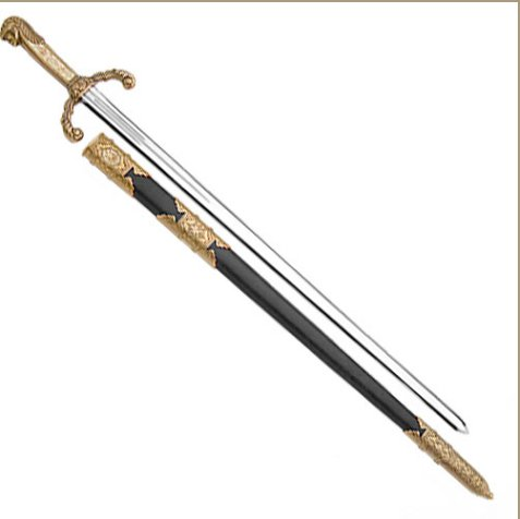 Peter the Great Sword, Gold & Black