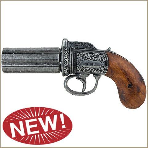 British Pepperbox Revolver - Grey