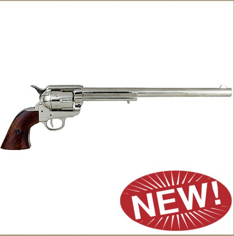 M1873 Single Action Buntline Special Revolver Non-Firing Gun - Nickel