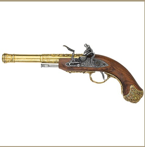 Left-Handed Indian Flintlock Brass finish