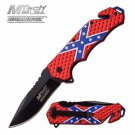 "MTech Ballistic ""Stars & Bars"" Rebel Spring Assist Rescue Knife"