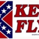 "Old Georgia Battle Flag ""Keep It Flying!"" Bumper Sticker"