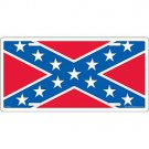 Rebel Flag Auto License Plate