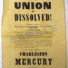 Union Dissolved- Charleston Mercury Extra
