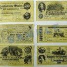 """Confederate Replica Currency Set """"D"""""""