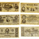 "Confederate Replica Currency Set ""C"""