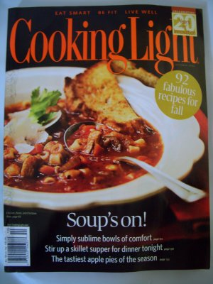 Cooking Light Magazine-October2007-Soup's on! FREE SHIPPING!