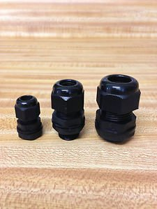 "5 Strain Relief Cord Grip Gland w/nut/gasket  U PICK SIZES 1/2"", 3/8"", 1/4"" NEW"