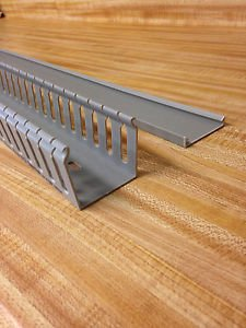 """8 NEW 2"""" X 2"""" X 39"""" OPEN SLOT WIRE DUCT/CABLE RACEWAY/TRUNKING WITH TAPE"""