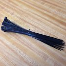 "50 NEW 8"" BLACK WIRE CABLE ZIP TIES NYLON TIE WRAPS 40 Lb Strength"