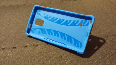 Samsung Galaxy Note 4 blue case + screen protector
