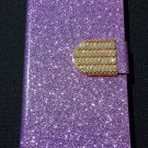 Iphone 6 Purple Bling Diamond Leather Case