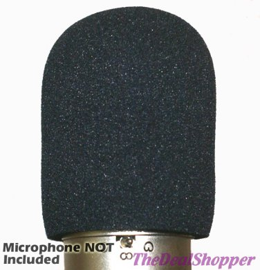 Large Microphone WINDSCREEN Fits MXL MVS or Acoustica Mixcraft Vocal Studio Mic USB